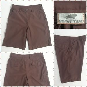 Horny Toad Convert Shorts Flat Front Casual Hiking